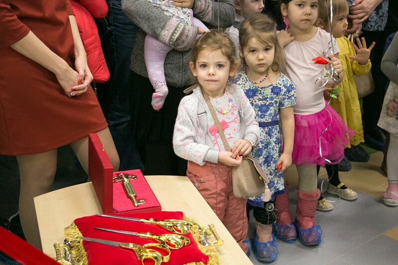 Сегодня открыли новый муниципальный детский сад №19ф на 120 мест с бассейном в Красногорске