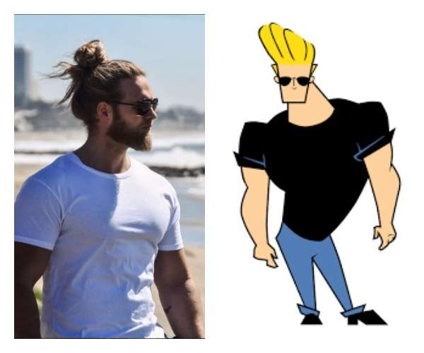 Sunglasses, disproportionately large upper body... wait, he might actually be Johnny Bravo 4.