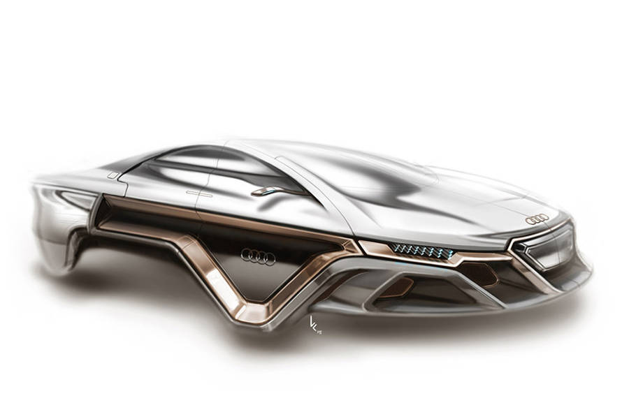 Electro-Magnetic Audi Concept Car Without Wheels