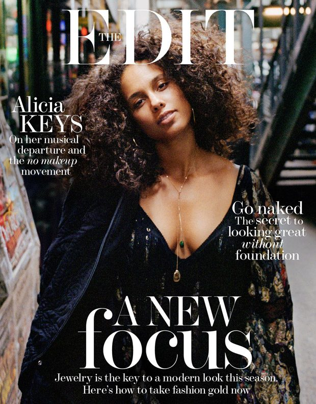 Alicia Keys Stars in The Edit Magazine Cover Story