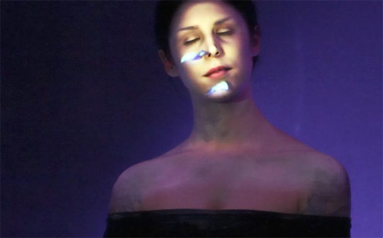 Face Projection Mapping - A performance entirely projected on a woman's face