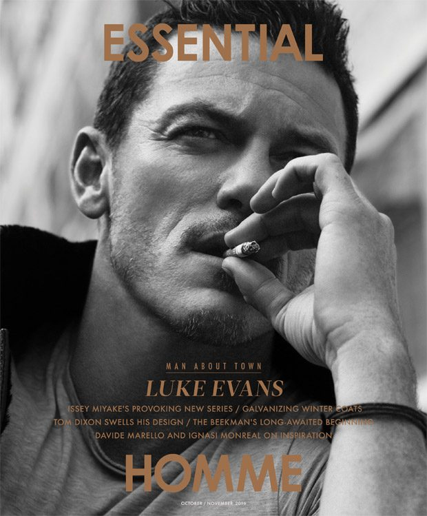 Luke Evans Connects the Dots for Essential Homme Magazine