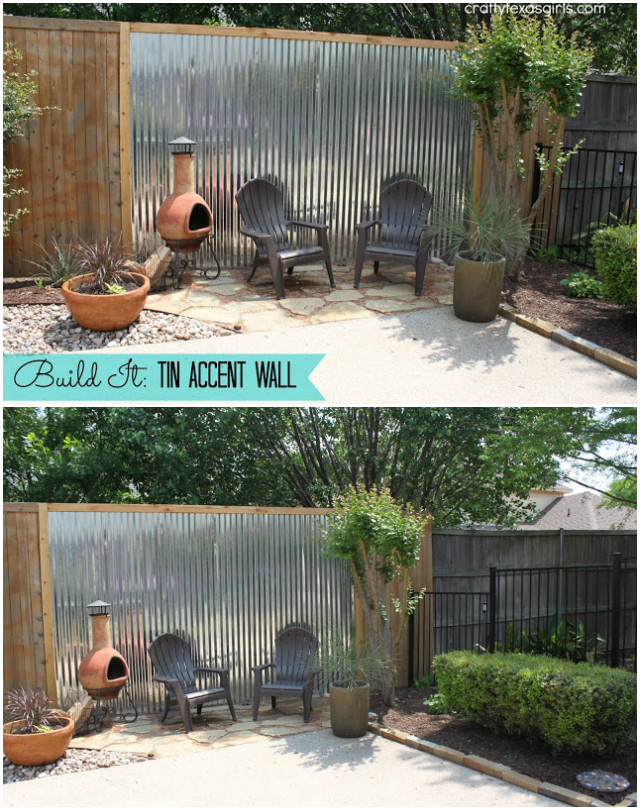 Tutorial: Crafty Texas Girls This is an easy to make privacy screen which consists of a wooden f