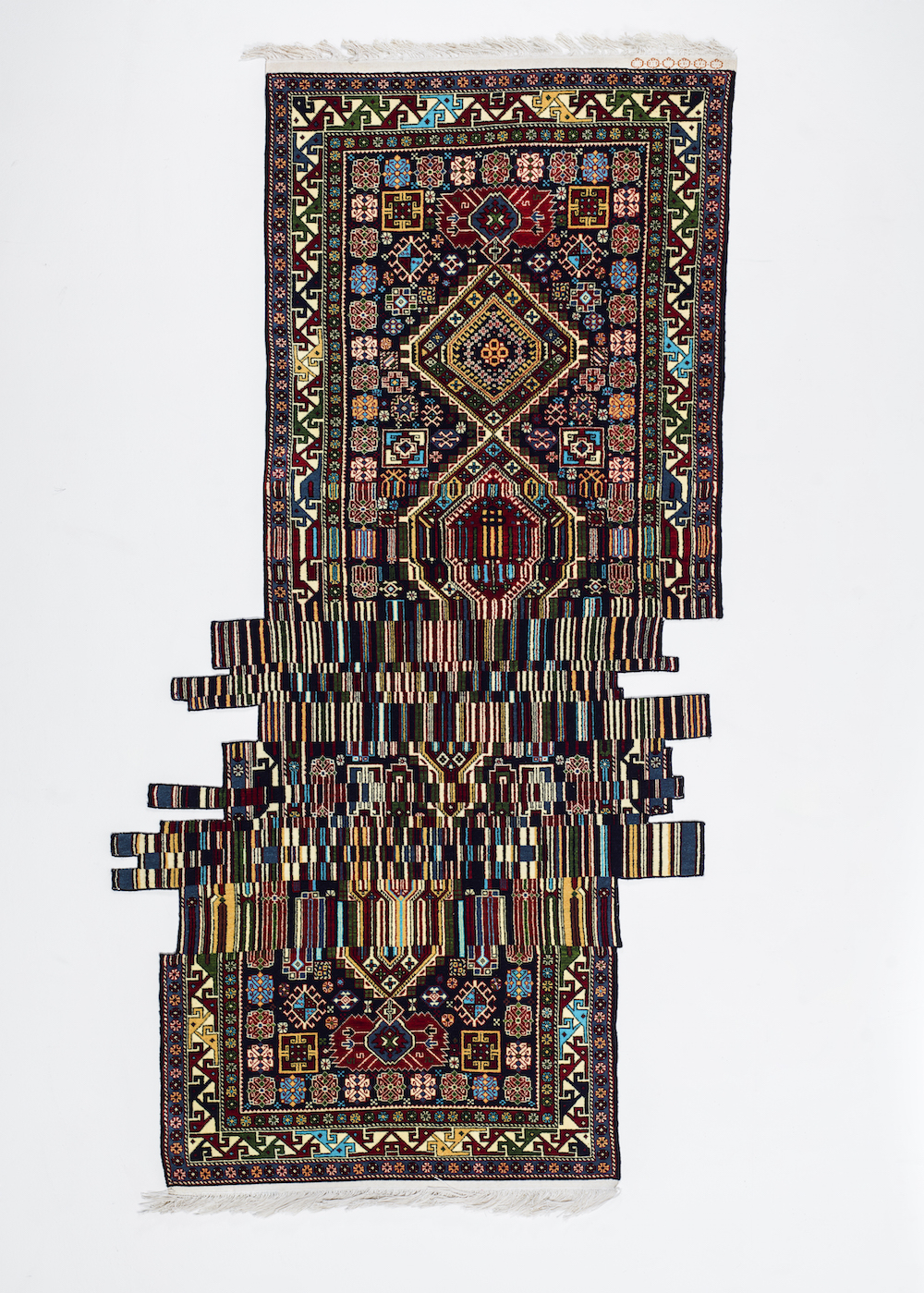 New Glitched-Out Rugs Designed from Traditional Textiles by Faig Ahmed