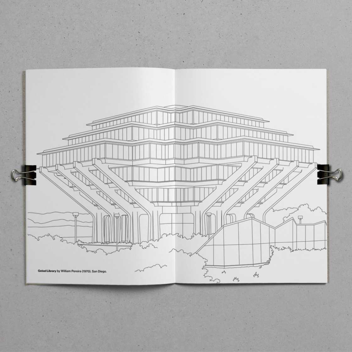 Brutalist Colouring Book - The coloring book of brutalist architecture