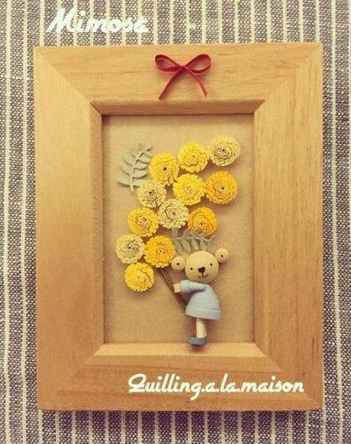 Весенний солнечный цветок мимоза