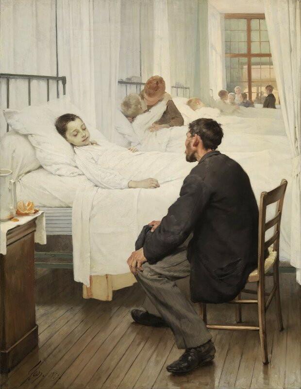 4 Henri_Geoffroy_-_Visit_day_at_the_Hospital_-_orsay.jpg