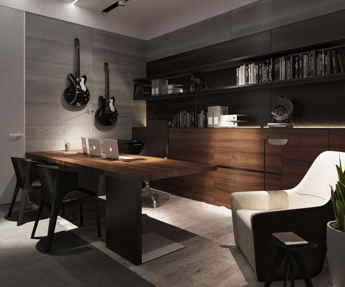 Мужской интерьер квартиры в Одессе
