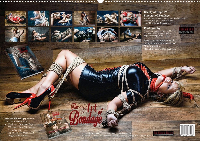 Связанные девушки в календаре Beauty of Rope IV - Calendar 2017 / Fine Art of Bondage