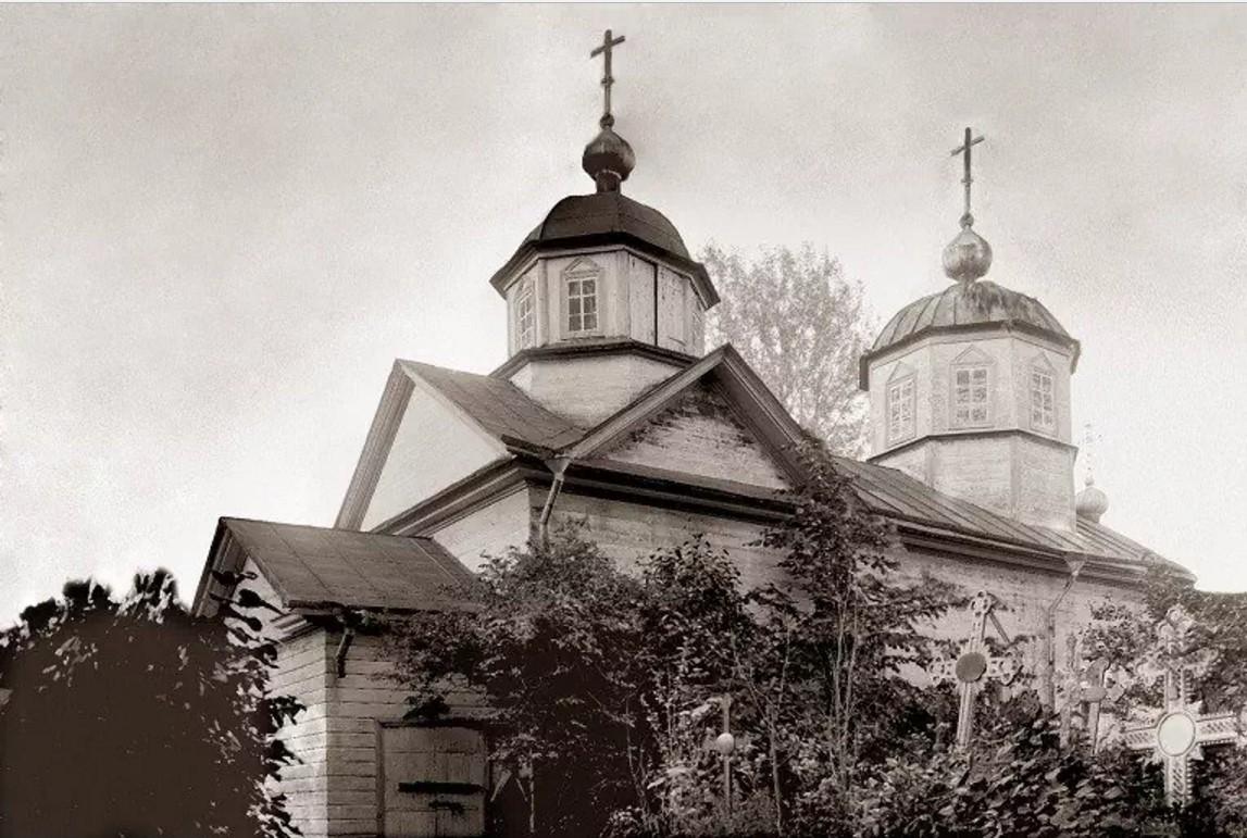 Окрестности Луги. Деревянная церковь Св. Николая