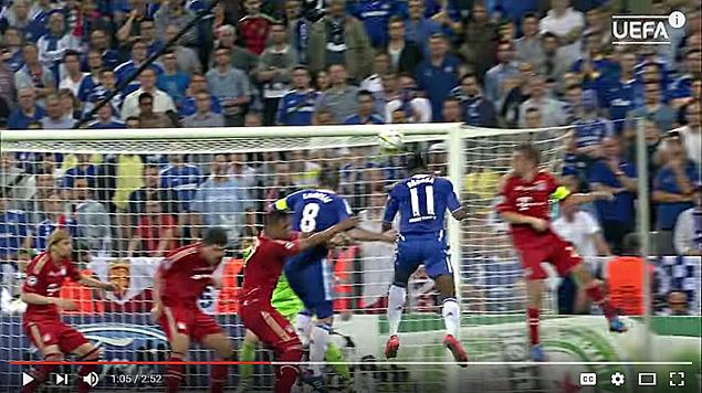 Дрогба забивает ответный гол на 88-ой минуте в ворота Баварии(635-2)