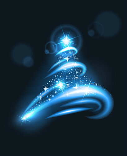 blurry lights christmas tree.