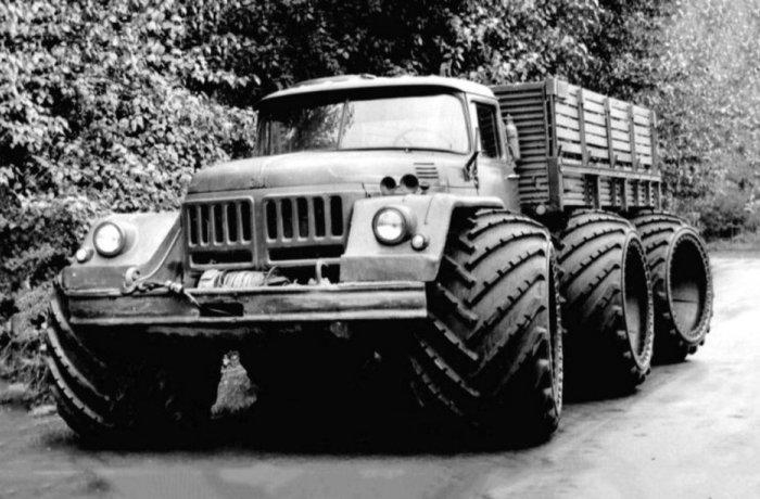 Сумасшедшие грузовики СССР : самые необычные эксперименты (2-я часть)