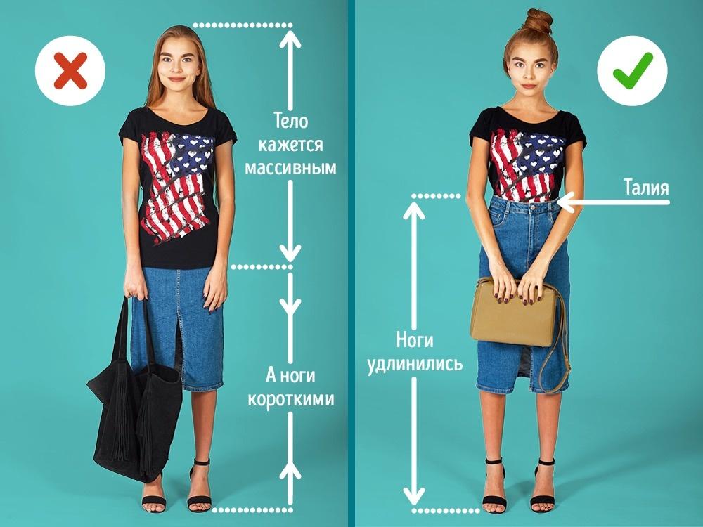 Чтобы выглядеть отлично, важно незабывать опропорциях фигуры, которые можно задать спомощью одежд