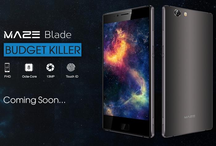 Представлен бюджетный смартфон Maze Blade