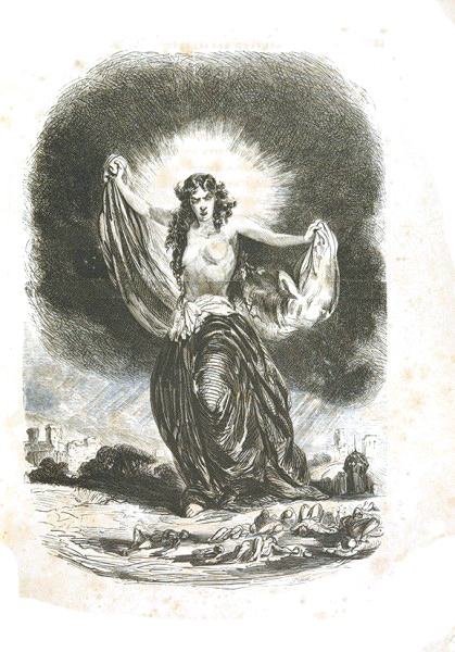 Рисунок И. Тысевича. Мицкевич, А. Конрад Валленрод. Гражина. Издание 1863 года