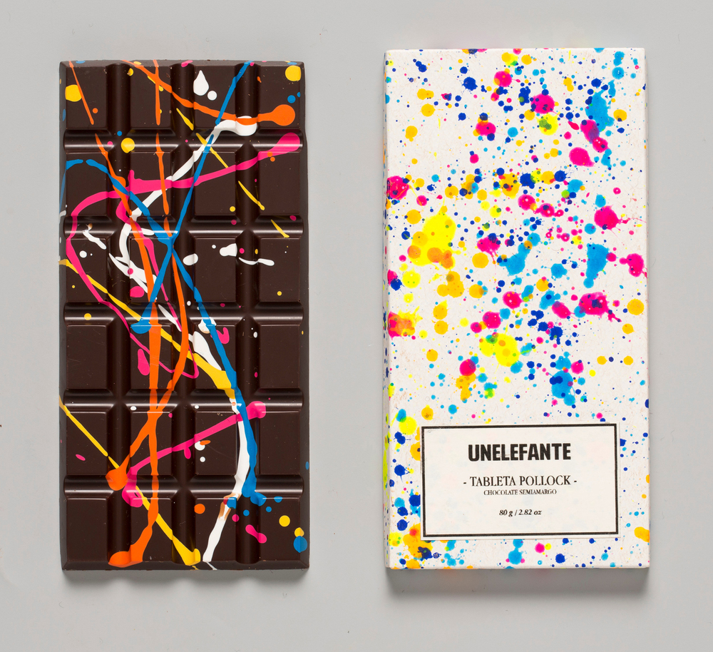 Photo by KNSTRCT Update: The Pollock Chocolate Bar is now available in the Colossal Shop .