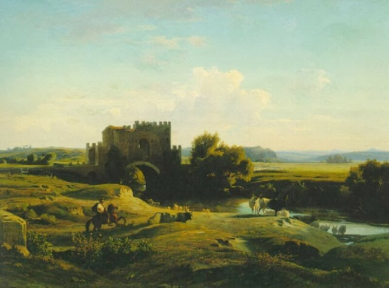 3 Benouville_View_of_the_Ponte_Nomentano_in_the_Roman_Campagna.jpg
