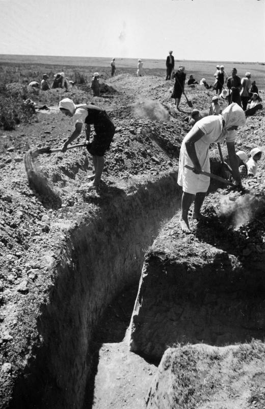 Женщины роют окопы в районе реки Дон. 42.jpg