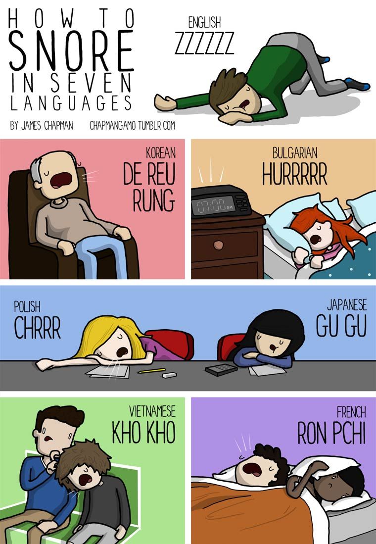 Traduire les sons et les onomatopees dans les autres langues