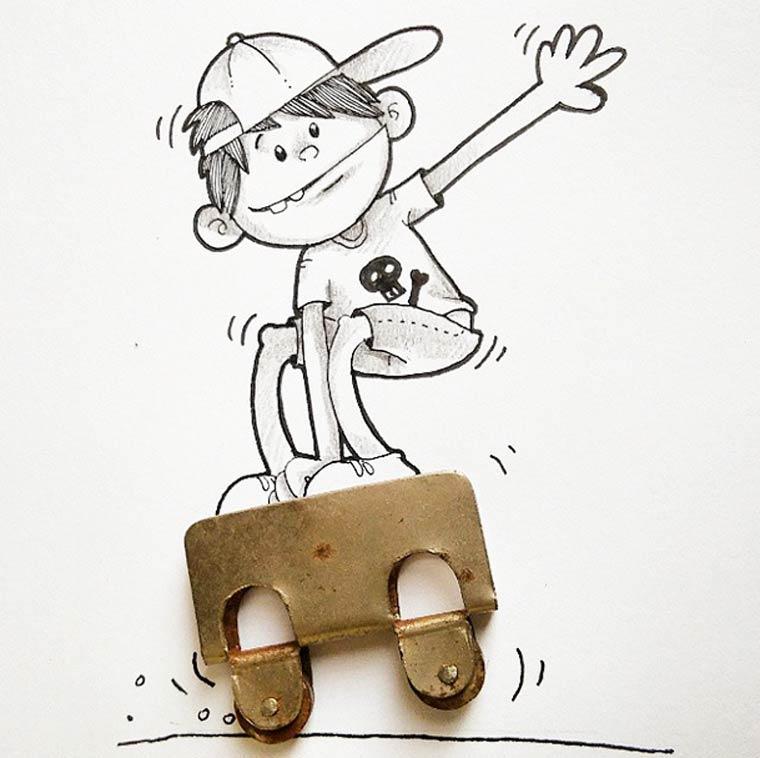 Real Life Doodles - Quand un illustrateur s'amuse avec les objets du quotidien