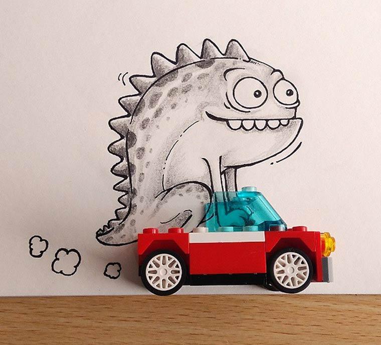 Real Life Doodles – Quand un illustrateur s'amuse avec les objets du quotidien (27 pics)