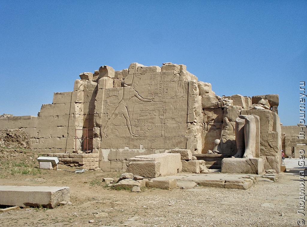 разрушение храма Карнак