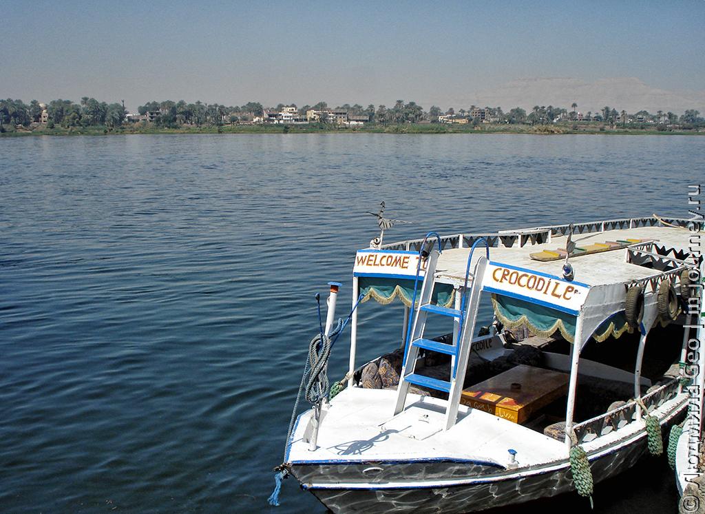 на кораблике по Нилу