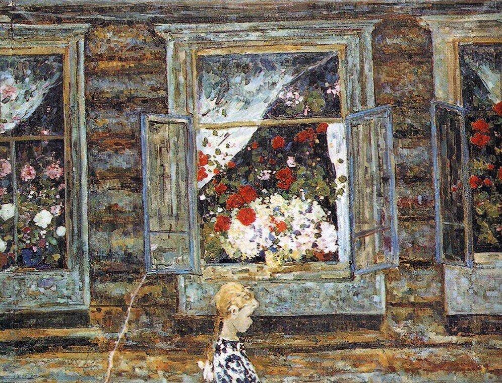 Борис Федорович Домашников. Девочка у окна. 1966..jpg