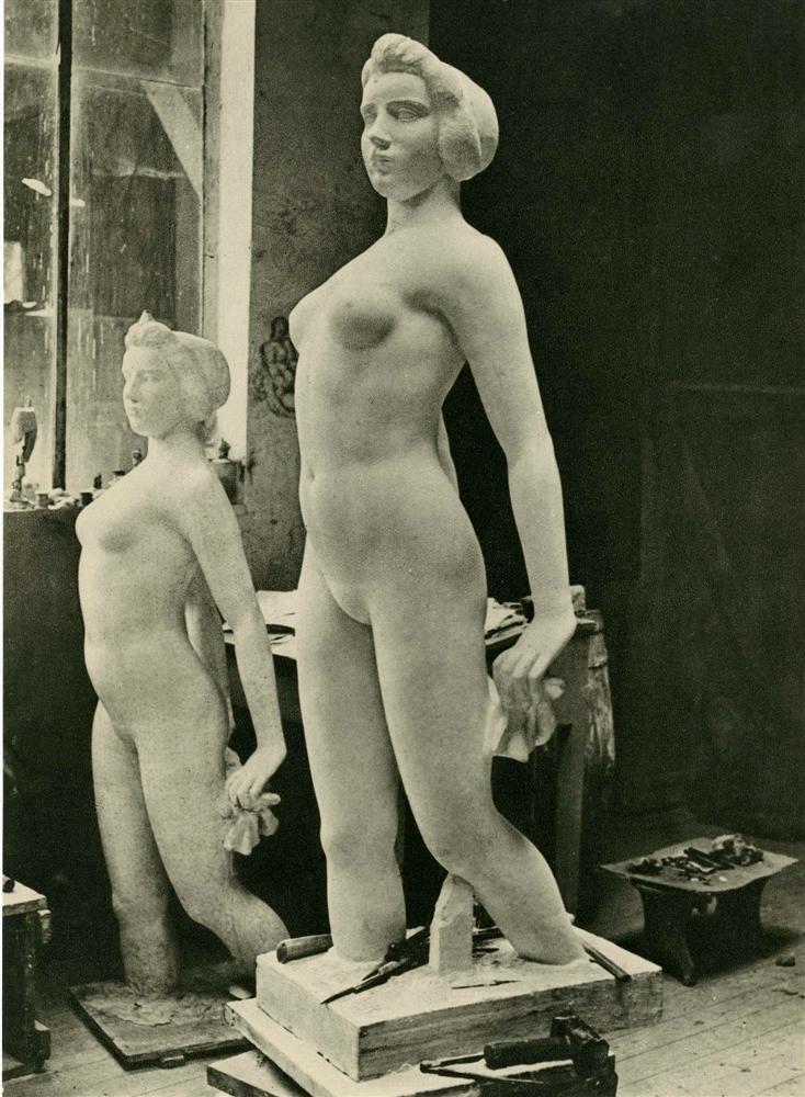 1938. В мастерской Аристида Майолья
