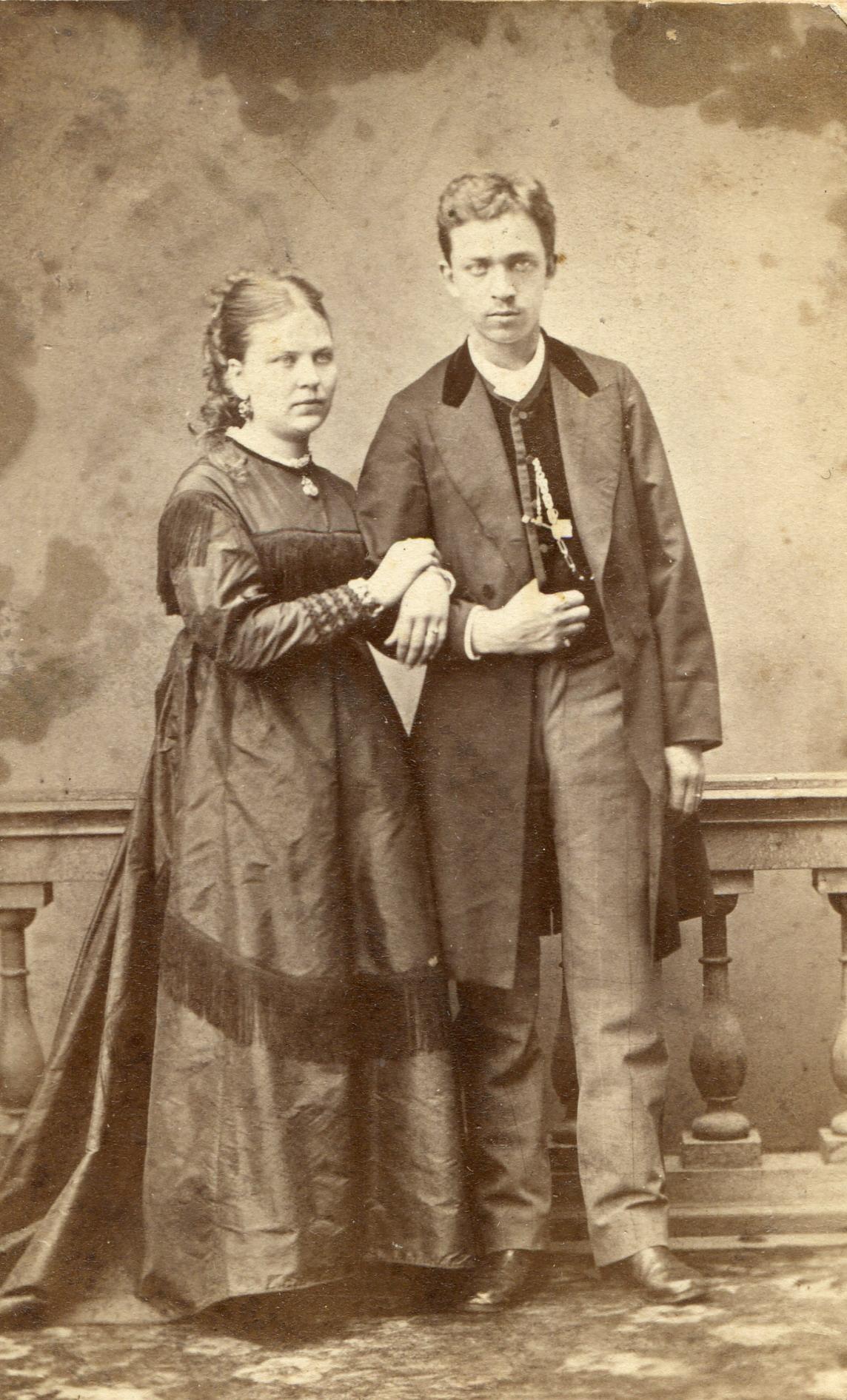 Портрет супружеской пары. 1870-1880