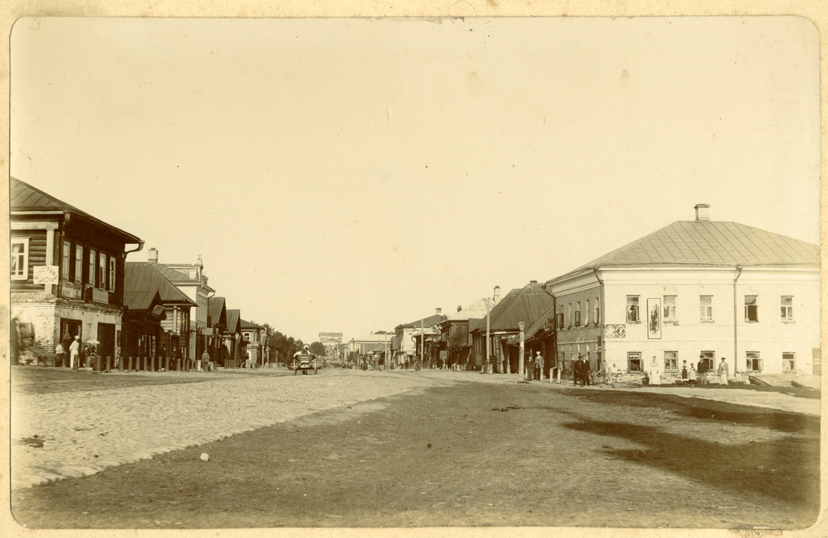 Вид на часть города  с Вознесенской улицы