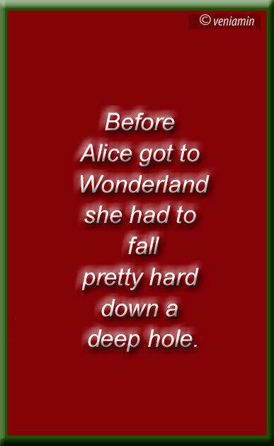 Alice in Wonderland (quote), Алиса в стране чудес