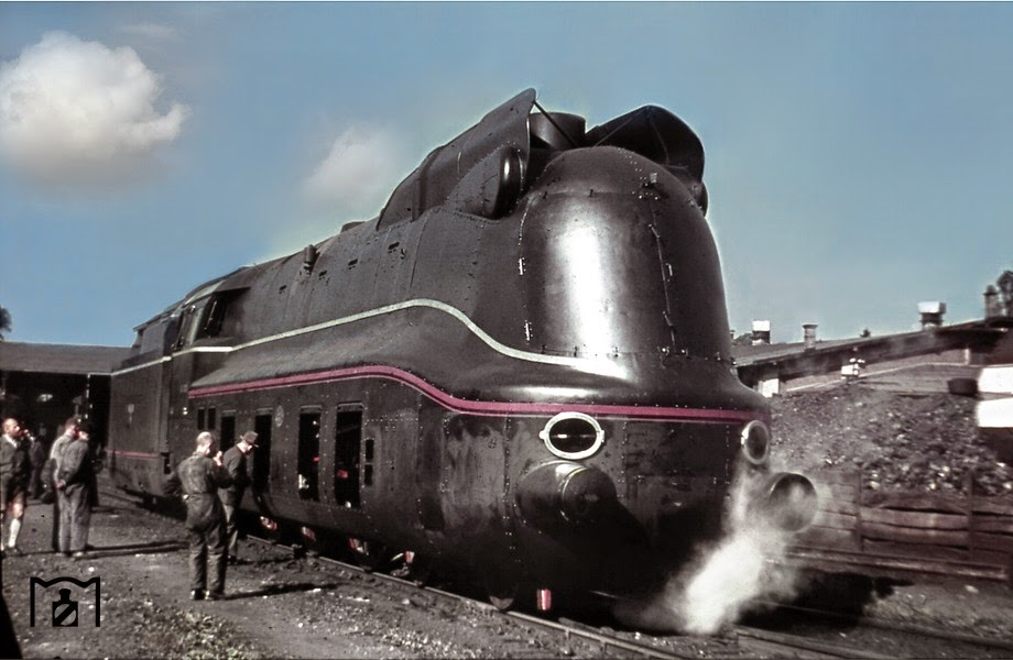 A rare color photograph german train railway.jpg