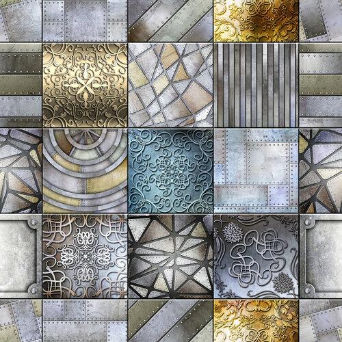 seamless metallic tiles background