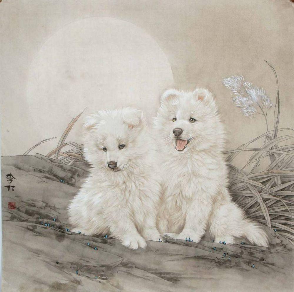 Китайская живопись художника Li Zhe