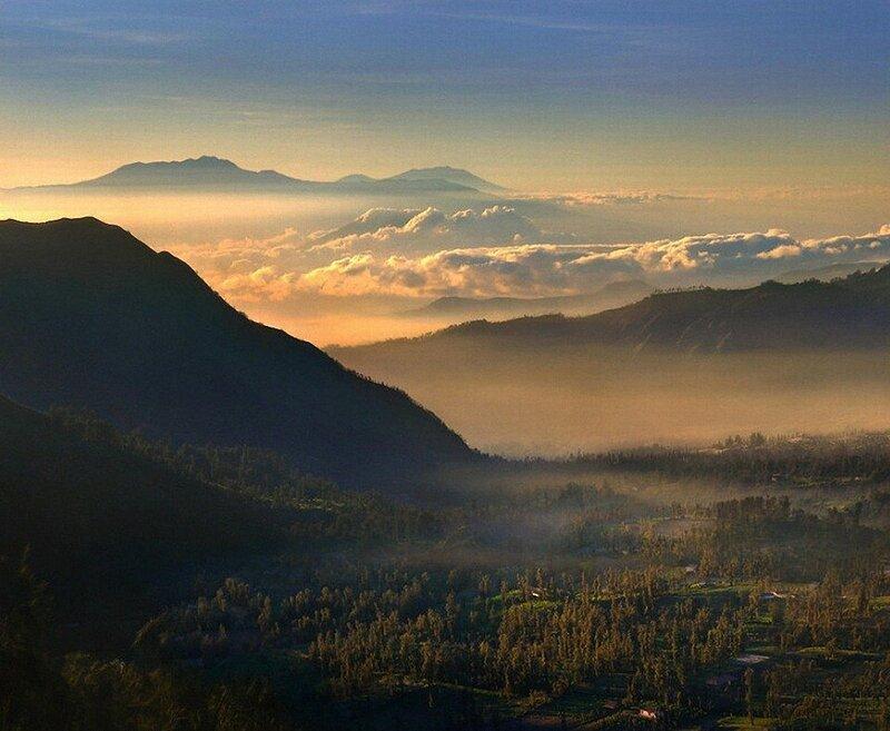 Индонезийский вулкан Бромо
