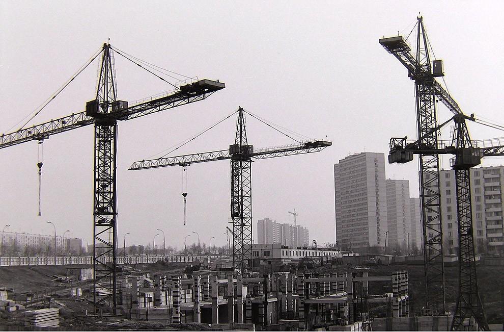 27. Москва, Юго-Запад, строительство гостиницы «Спорт», 1976 г.