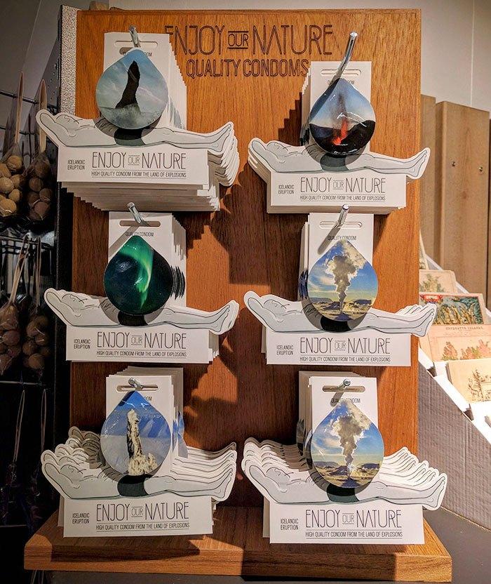 Исландские презервативы, которые отражают взрывную природу страны
