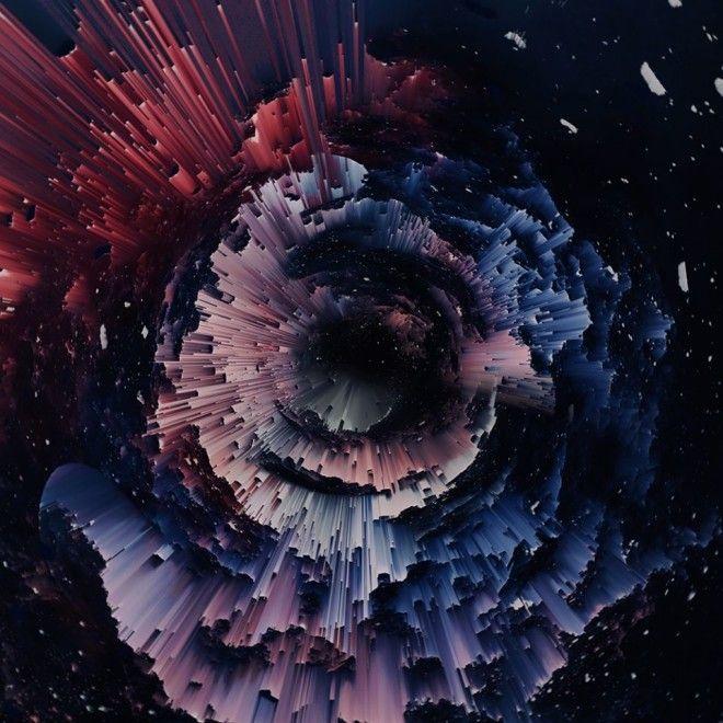 Девушка Создает Цветные Абстрактные Изображения, Которые Похожи На Небесные