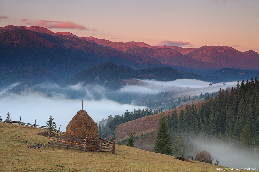 Первые петухи сигналят в деревеньке о начале нового дня. Скоро снова начнется тяжелая работа, ж