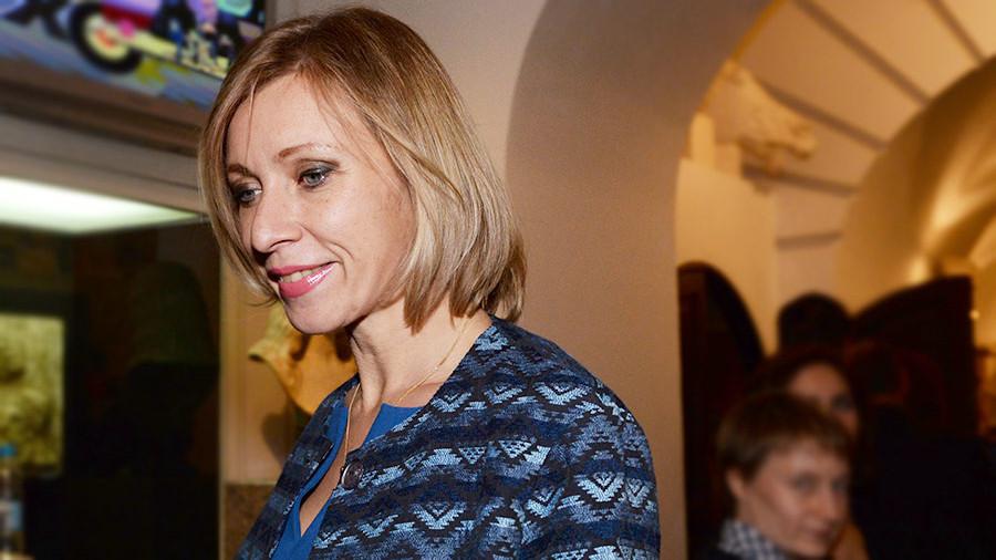 Захарова высмеяла ошибку набаннере набрифинге воВладивостоке