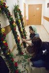 Флористы украсили Свято-Троицкий кафедральный собор к празднику Пасхи Христовой