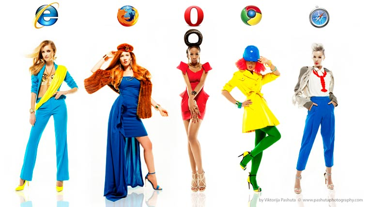 Internet Fashion - What if men were social networks and women were browsers