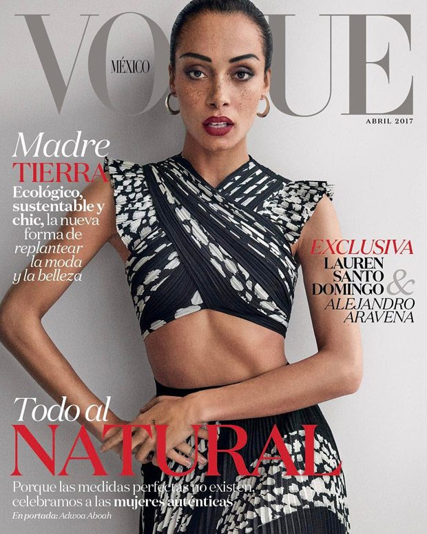 Adwoa Aboah is the Cover Girl of Vogue Mexico April 2017 Issue