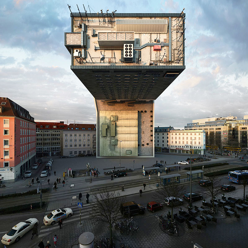 Photographer Victor Enrich Imagines the Same Building in Munich Configured in 88 Ways