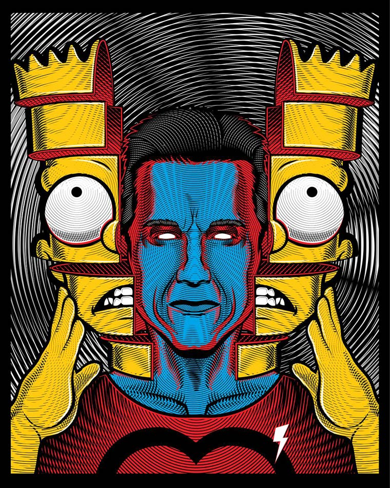 Bootleg Bart - An awesome mashup series between Simpsons and pop culture