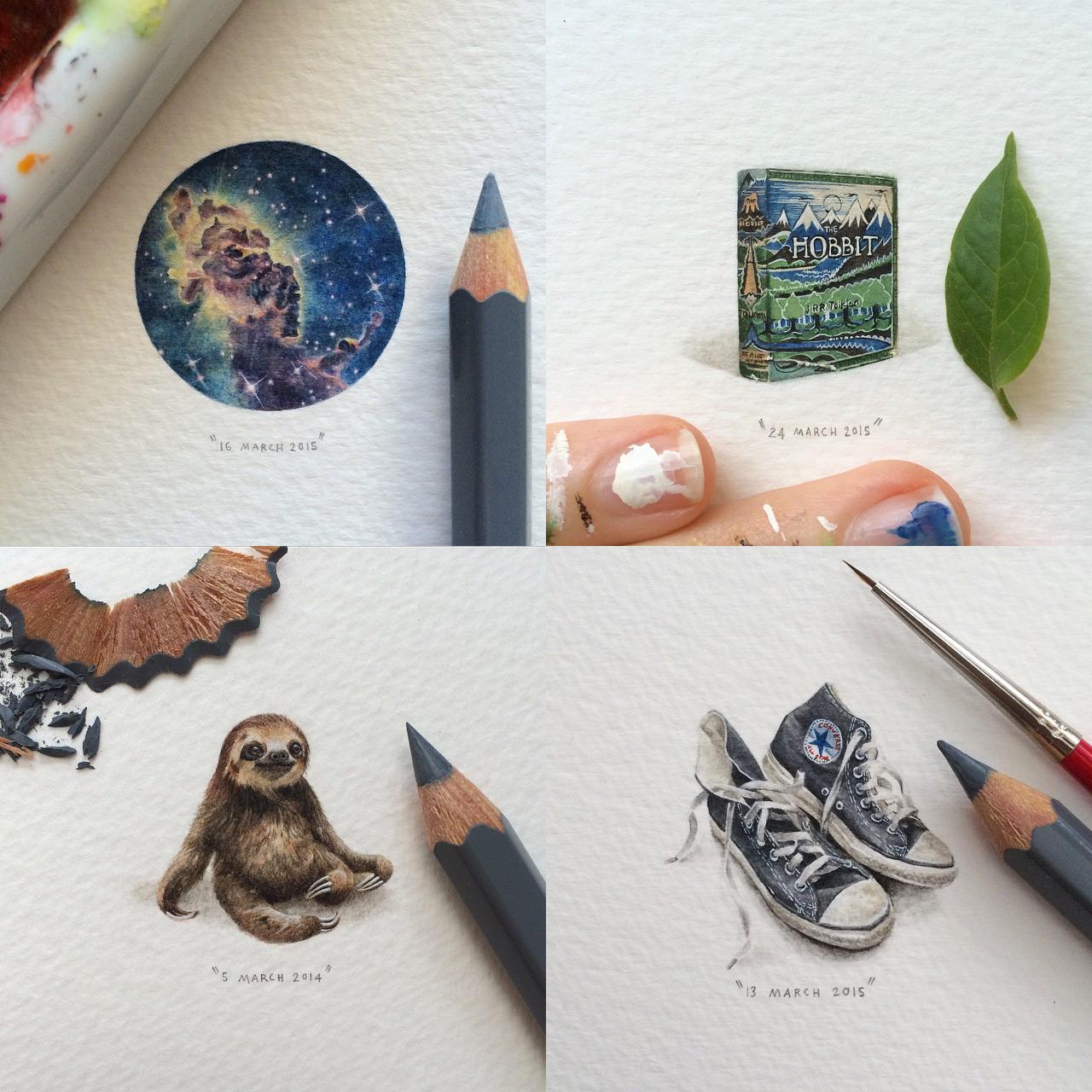 Arte em miniatura por Lorraine Loots (9 pics)