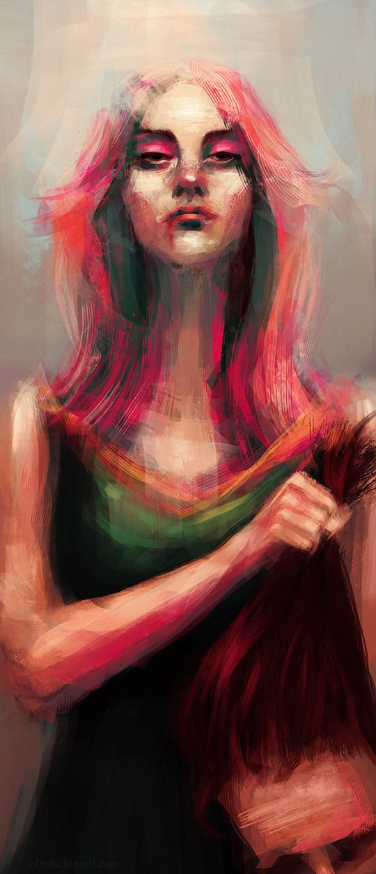 Digital Portrait Illustrations by Ladynlmda