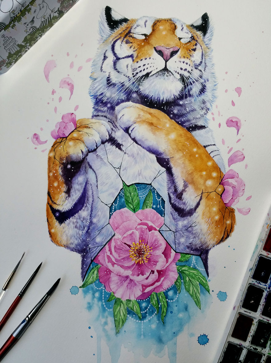 Watercolor Paintings of Animals Revealing Their Inner Beauty